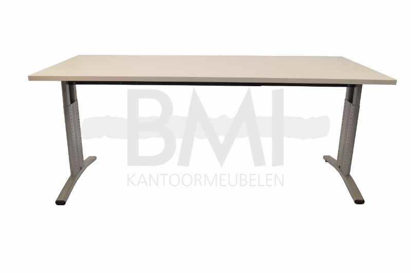 bureau entrada 180 x 80 cm wit aluminium bmi. Black Bedroom Furniture Sets. Home Design Ideas