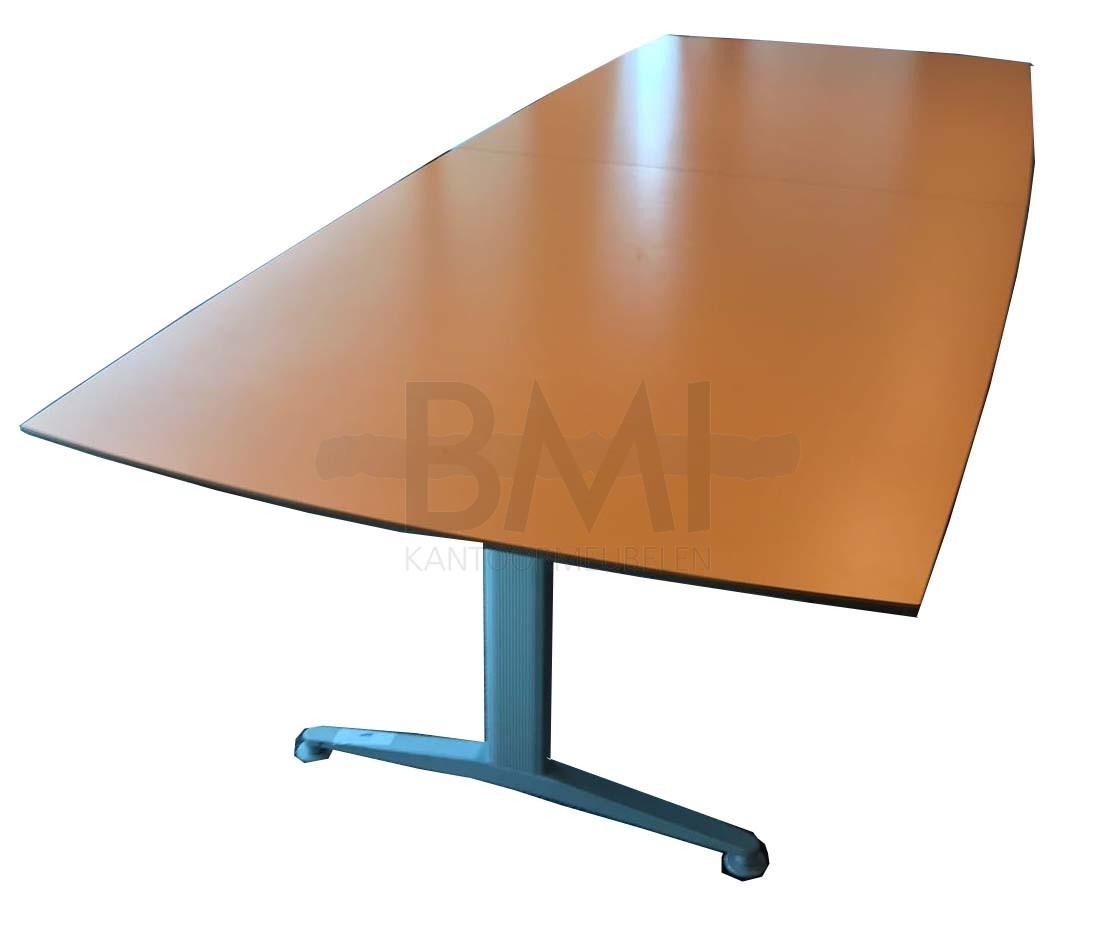 Vergadertafel Kinnarps Twinform oranje/aluminium