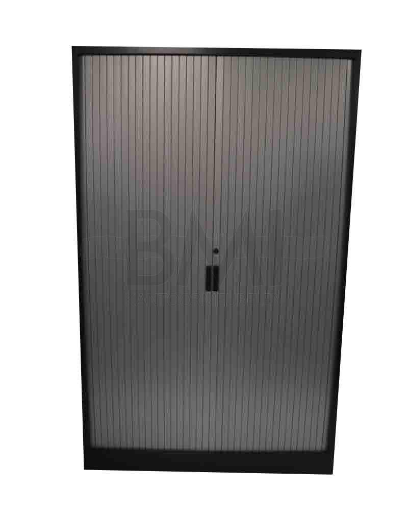 Roldeurkast Aspa 198 x 120 x 45 cm antraciet / aluminium