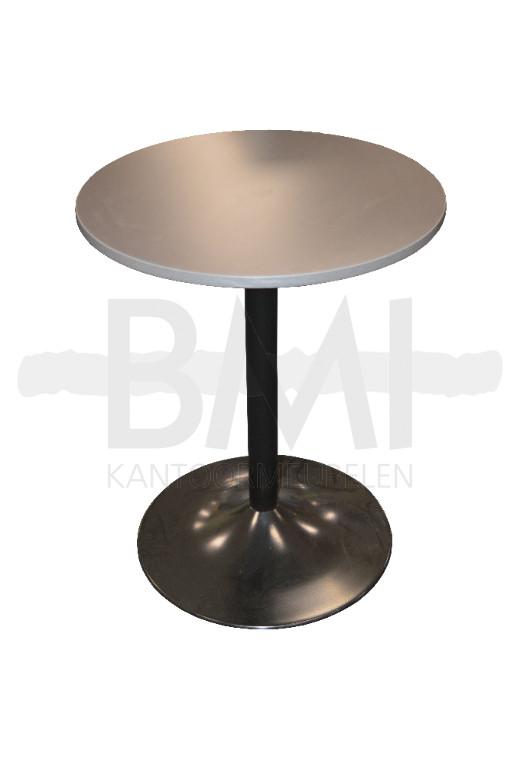 Bijzet tafel rond 60cm tafel grijs / zwart