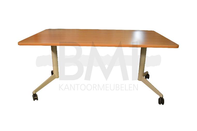 Klaptafel 160 x 80 cm beuken / aluminium