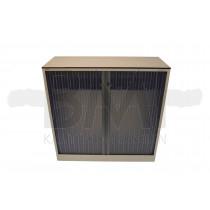 Roldeurkast Ahrend 120 x 120 x 45 cm wit / transparant