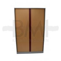 Roldeurkast Ahrend 198 x 120 x 45 cm Aluminium / Beuken