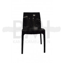 Kantine / terrasstoel 4 poots zwart