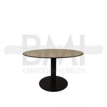 Vergadertafel ovaal wit / zwart