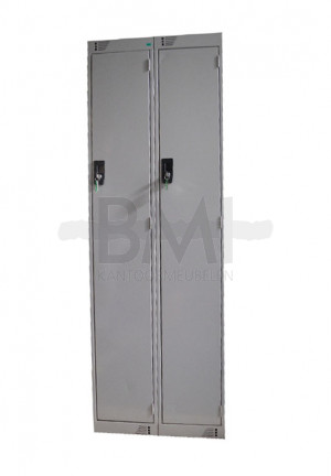 Garderobekast 2 deurs 180 x 60 x 50 aluminium