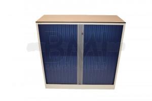 Roldeurkast Ahrend 120 x 120 x 45 cm wit / blauw
